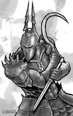 Demon's Souls: Yurt, the Silent Chief by MenasLG on DeviantArt Character Concept, Character Art, Dark Souls, Demon's Souls, Praise The Sun, Fantasy Male, Soul Art, Fantasy Artwork, Horror