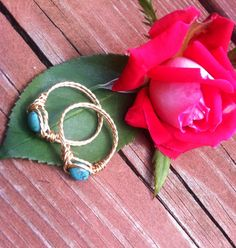 Genuine Turquoise Friendship Rings Chinese by PazHappyCreations