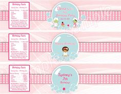Free Printable spa Water Bottle Labels