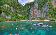 Ko Phi Phi (Andaman Sea between Phuket and Krabi in Southern Thailand) -- These six islands have some of the best diving and snorkeling in Thailand. Crowds flock to Maya Bay both for its spectacular scenery and because it's where the movie The Beach was filmed; Loh Samah Bay is more secluded.