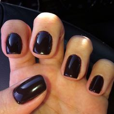 Fedora by Shellac...looks just like Wicked by Essie :)