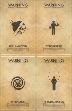 Fringe Science Fiction Inspired Iconography Poster Series