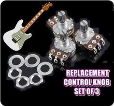 New 3 pcs A250k Strat Guitar Potentiometer Split Shaft Pots Tone Switch Control #Unbranded