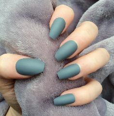 OMG  look so cool black matte nails