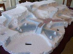 Image result for Christmas Village Display Platforms Styrofoam