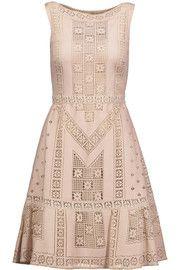 ValentinoPointelle-knit cotton-blend midi dress