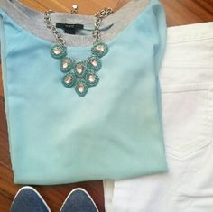 F21 | Ombre sheer top Everyday light blue ombre top. See through. 3/4 length sleeves. Thanks for visit my closet!    ▶Condition: EUC. No flaws    ▶No trades    ▶Ask any questions :) Forever 21 Tops Blouses