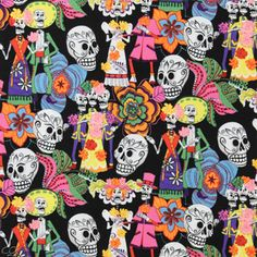 Folklorico Los Novios Skulls Black