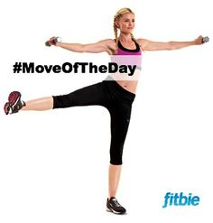 #MoveOfTheDay: Squat With Leg Abduction and Lateral Raise, works #glutes, #shoulders, and #totalbody | Fitbie.com