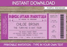 ROCK STAR CONCERT TICKET INVITATION