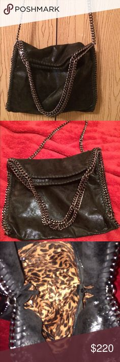 Stella McCartney Fold Over Falabella Inspired Used in great condition no scratches or flaw. No Oder at all comes from pet free and smoke free home. The inside has one zipper and one pouch pocket. Great used as a tote or over he shoulder 👜 Stella McCartney Bags Shoulder Bags