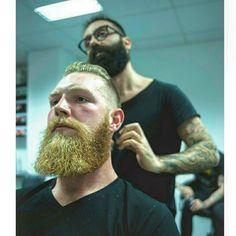 To work as a barber is the best. #beard #skägg #swedishbeard #swedish #klippning #barbershop #barbershopborås #man #män #beardbrother #beardking #skäggolja #beardgrowth #beards #styl #styling #borås #tatuering #tatoo #outfit #manstyle #manfash #hairdresser #haircut by iman_khalaf