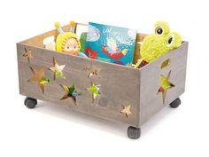PASSPORT - DH4075 - Coffre à jouets étoiles 50x35x25 cm