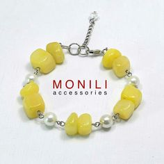 Yellow riverstone bracelet by Monili https://www.tokopedia.com/monili/yellow-river-stone-bracelet-bc-016