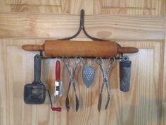 Grandma's antique kitchen wares gadgets & rake head holder...for sale $35. At LeToolman.com