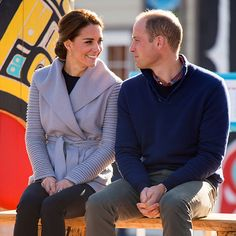 The pair are clearly smitten with each other and even during public engagements, such as this First Nation cultural welcome in Carcross, William and Kate can't hide their affection for each other.<br> <br>Photo: © PA