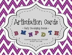 Speech Therapy:  520 Articulation Cards for Preschool.
