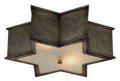 SOPHIA LARGE STAR SHAPE FLUSH MOUNT :: FLUSH & SEMI-FLUSH FIXTURES :: Ceiling lights Toronto, Bath and vanity lighting, Chandelier lighting, Outdoor lighting and kitchen lights :: Union