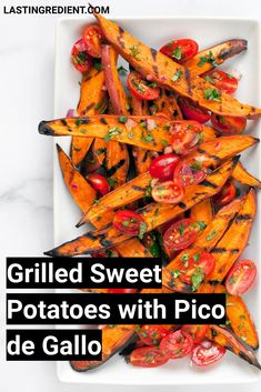 It wouldn't be right if I gave sweet potatoes the complete cold shoulder.Since the fall I've been going steady with my favorite root vegetable. Sweet potatoes got me through the bleakest moments of winter. I owe them a lot. It took me a few times experimenting with grilling sweet potatoes. I wanted it to be one step process without having to boil the potatoes in advance to get their centers tender. Grilled Sweet Potatoes, Root Vegetables, Side Dishes Easy, Side Dish Recipes, Main Meals, Grilling, Appetizers, Simple, Food