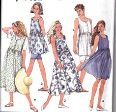 Womens Sewing Pattern 1990's Sleeveless Dress by Sutlerssundries, $6.00