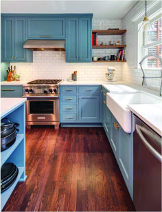 Crazy red and blue kitchen cabinets made easy