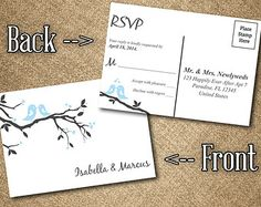 Chalkboard RSVP Postcard Word Template  by PaintTheDayDesigns