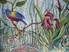 Dixie Friend Gay began the mosaic mural project for The Woodlands in 2004