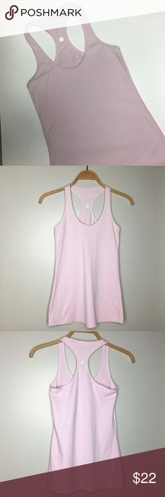 Lululemon Pale Pink Tank Top - Size XS Like new Lululemon pale pink tank top. Size XS lululemon athletica Tops Tank Tops
