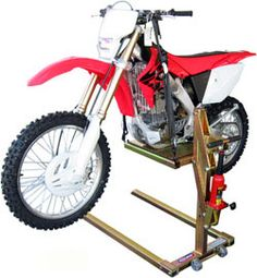 Planos para fabricar tu propia Motorbike Stand, Motorcycle Lift Table, Bike Lift, Moto Bike, Motorcycle Gear, Garage Tools, Garage Workshop, Tool Belt Suspenders, Welding Cart