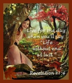 Live for the day when you'll say: 'Life without end—At last!'