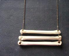 Animal Bone Necklace, Coyote Bones, Tribal Necklace on Long chain. $24.00, via…