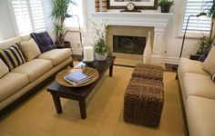 A variety of colors populates this living room.