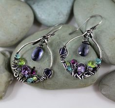 Elegant  and enchanting earrings sterling by DreamingTreesJewelry