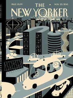 The New Yorker #car illustration