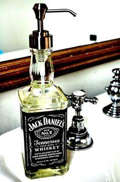 Repurposed liquor bottle- get rum bottle for sea themed bath