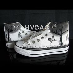 """""""Moonlit Night"""" High-Top Canvas Sneakers from #YesStyle <3 HVBAO YesStyle.com"""