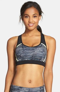 d30c048413 Free shipping and returns on Zella  Heartbeat  Print Sports Bra at  Nordstrom.com. A supportive