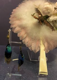 These earrings made me cringe. 🐦 #FashionExhibition #FashionExhibit #FashionHistory #DressHistory #BuyLess #AppreciateMore #FashionedFromNature #VAMuseum V & A Museum, Elements Of Nature, The V&a, Victoria And Albert Museum, Fast Fashion, Natural Materials, Fashion History, Cringe, Exhibit
