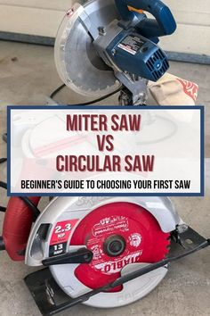 A great beginner guide to learning about the circular saw and miter saw. Which one to buy as a beginner. #woodworking #anikasdiylife Hand Circular Saw, Furniture Plans, Diy Furniture, Types Of Saws, Sliding Compound Miter Saw, Beginner Woodworking Projects, Wood Working For Beginners, The More You Know, Colorful Furniture
