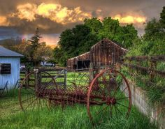 Historic Old Barn | The West Barn (left) and East Barn (center) at the Bernal-Gulnac ...