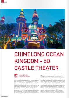 Very extensive Article on Chimelong's Castle Theater // realized by www. Zhuhai, Theatre Design, On Set, Theater, Castle, Digital, Teatro, Theatres, Drama Theater