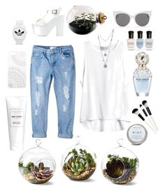 """""""Green house """" by prettypxnkcat ❤ liked on Polyvore featuring Shop Succulents, MANGO, Vince Camuto, Monika Strigel, Blanc & Eclare, Marc Jacobs, Deborah Lippmann, Esque Studio, Charlotte Russe and adidas"""