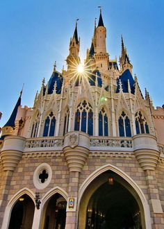 Cinderella castle sunrise at Disney World in Orlando, Florida: