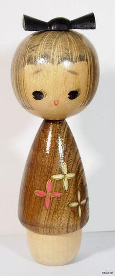 Japanese Sosaku Kokeshi Doll by Yamakawa Isamu