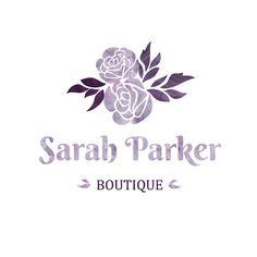 Watercolor floral logo