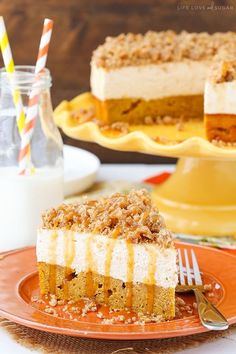 This Caramel Pumpkin Spice Blondie Streusel Cheesecake had a pumpkin blondie on the bottom, spiced cheesecake on top and a streusel topping with caramel sauce that is to die for! So I realized on Sunday that it was officially ONE MONTH until the release of my cookbook! I got so excited – it's so close! …