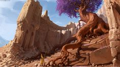 ruins with ancient tree by sviatoslav gerasimchuk Spectrum 4: The Best in…