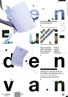 Studio Dumbar, Amsterdam Sinfonietta - poster exhibition in Shanghai - 28-29th…