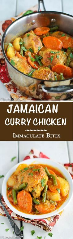 Jamaican curry chicken- a one pot meal that is bursting with flavors - the most delicious curry stew . You will want to make this over and over again