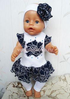 Туника и лосины для куклы Baby Born
